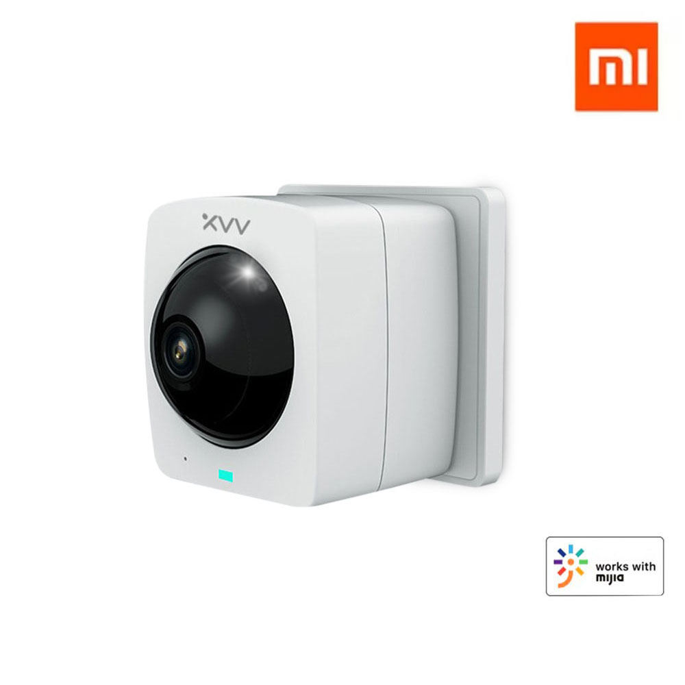 [ Plug-in Version ] XIAOMI Mijia XiaoVV-1120S-A1 Smart Panoramic IP Camera HD 1080P 360° Panoramic AI Humanoid Detection Security Camera Split Screen Infrared Night Vision