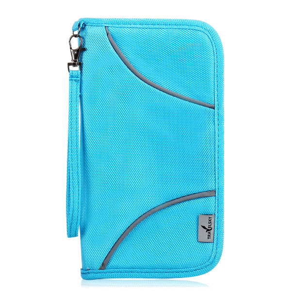 Travel Passport Holder Zipper RFID Blocking Credit Card Long Wallet Casual Clutches Bags