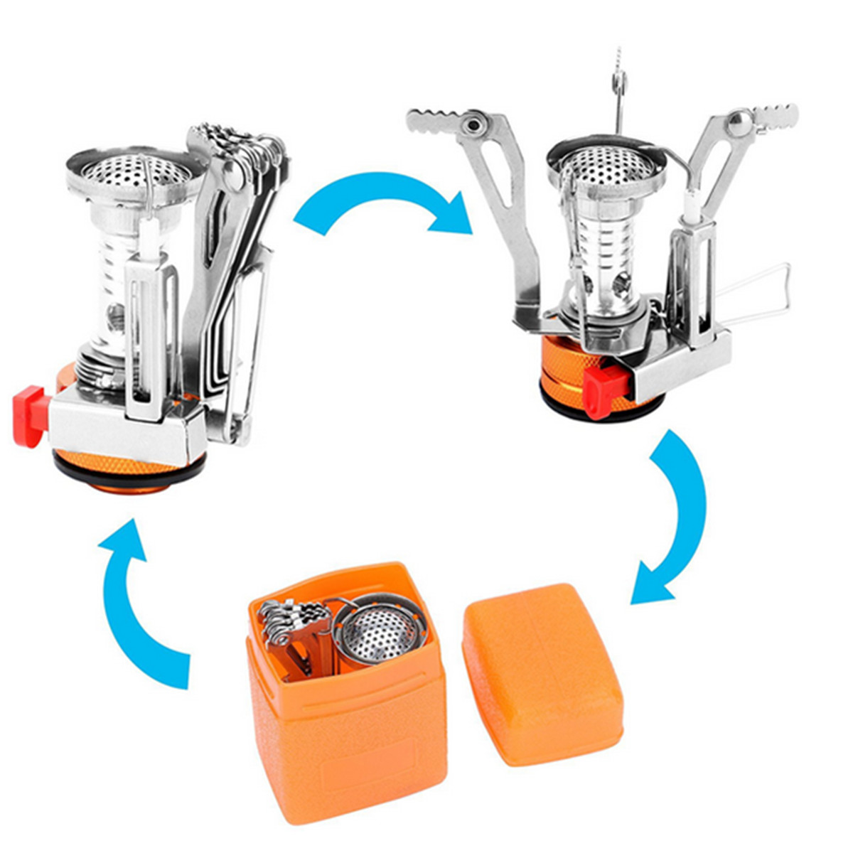 Camping Stove Pot Pan Kit Set for Outdoor Camping Backpacking Hiking Cooking Equipment