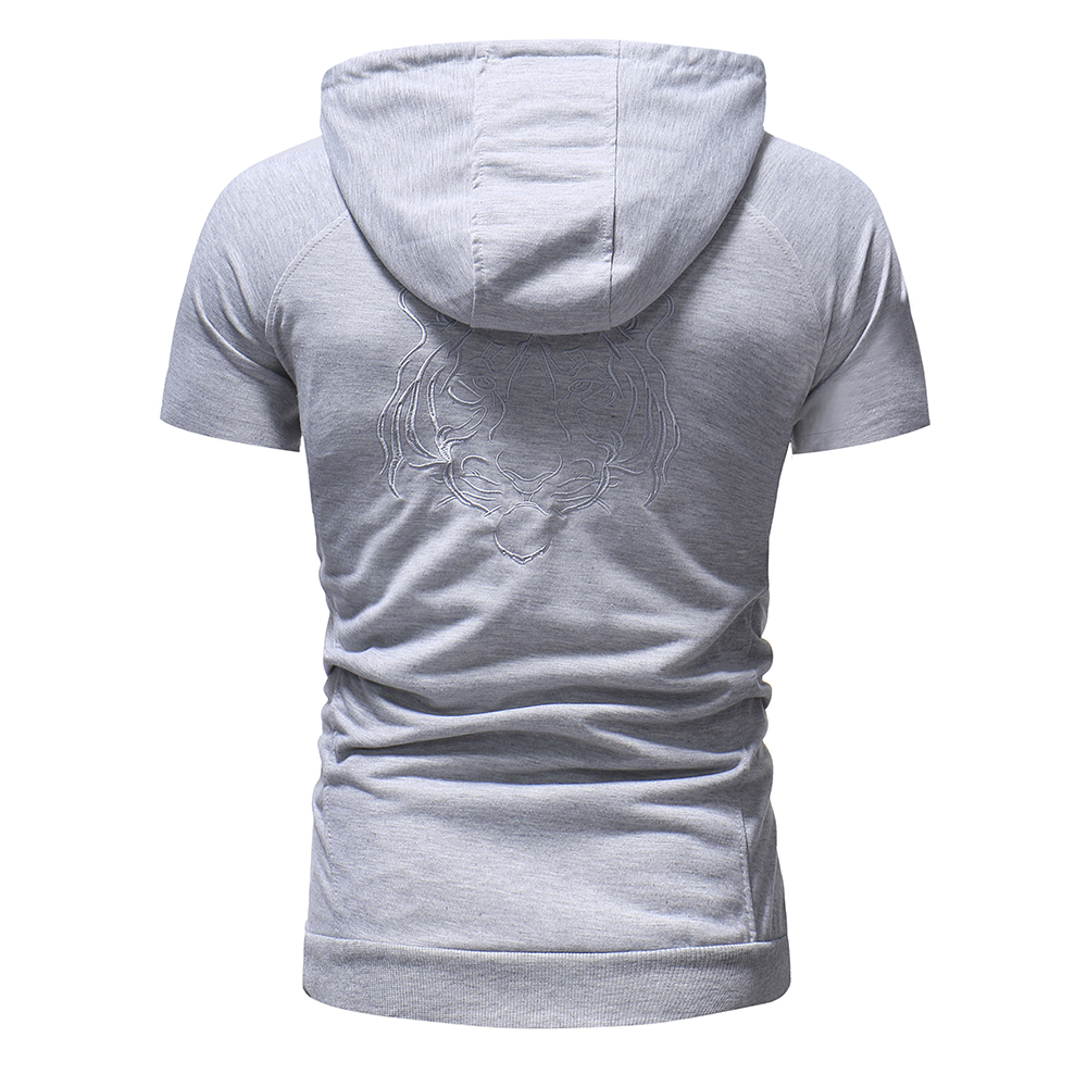 Men's Fashion Hooded Slim Short Sleeve T-Shirts