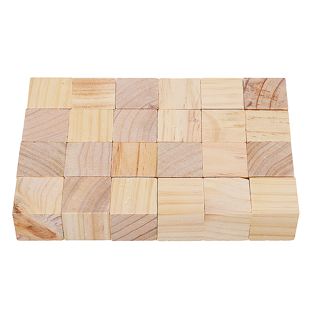 3cm 4cm Pine Wood Square Block Natural Soild Wooden Cube Crafts DIY Puzzle Making Woodworking
