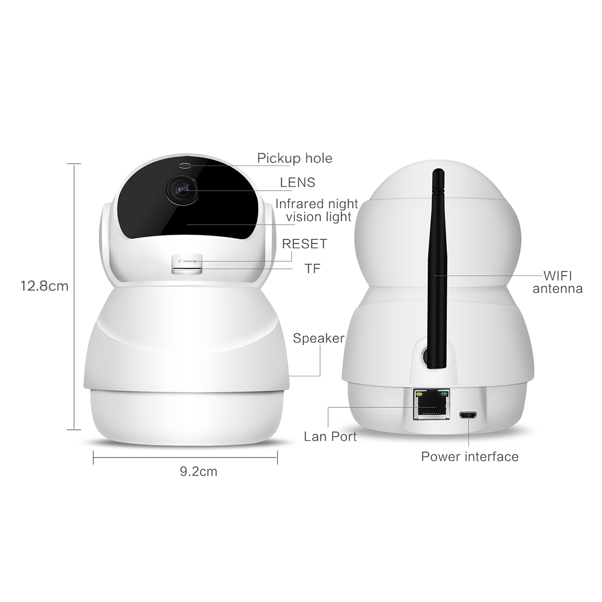 Bakeey 1080P 360 Degree Smart WIFI IP Camera Support Two-way Audio PIR Motion Sensor 4 x Zoom TF Card Storage Baby Monitor