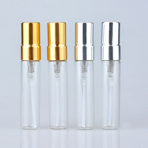 5ml Empty Glass Perfume Bottles Refillable Aluminum Atomizer