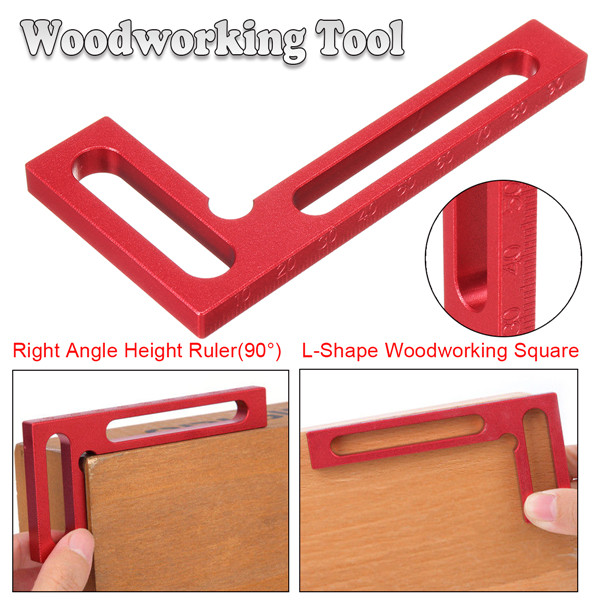 90° L-Shape Right Angle Height Ruler Woodworking Clamping Square Woodworking Tool