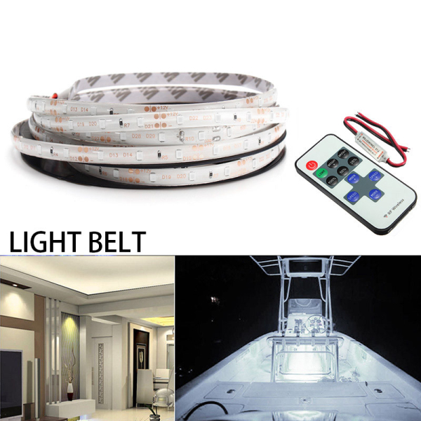 12V 5M 300LED Wireless Waterproof LED Strip Light 16FT For Motorcycle Boat Truck Car SUV