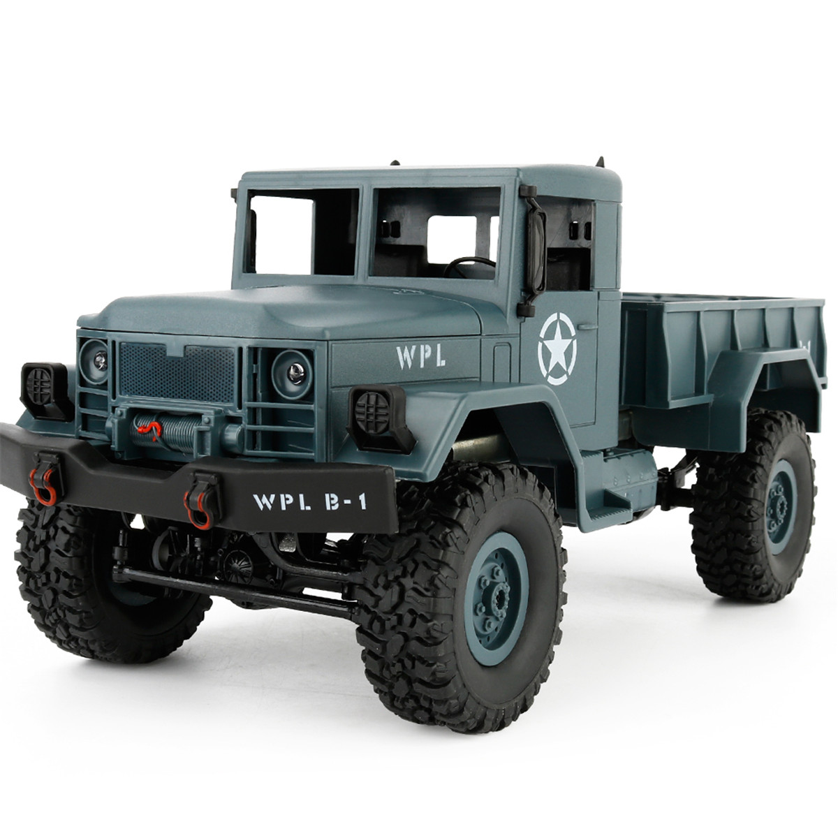 DIY WPL B-1 1:16 4WD RC Military Truck Buggy Crawler Off Road Car 2CH RTR Toy