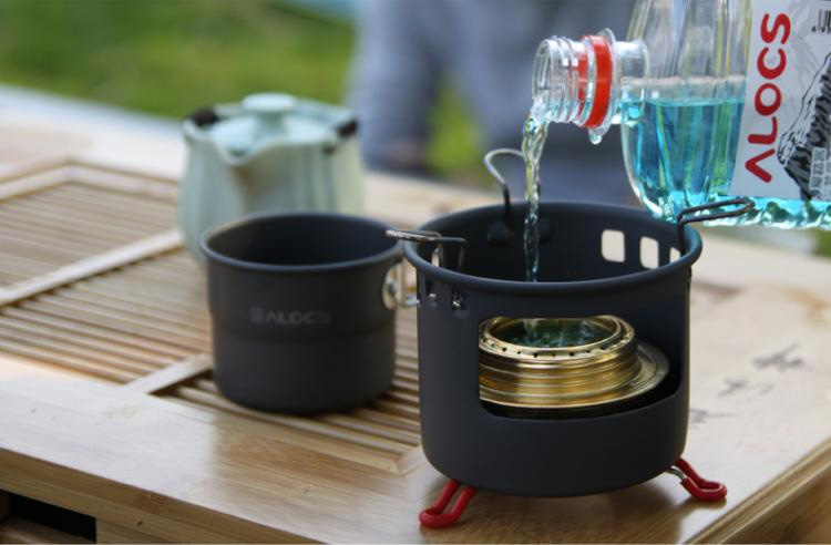 ALOCS TW-402 150ml Outdoor Portable Camping Cup Picnic Aluminum Mug With Foldable Handle