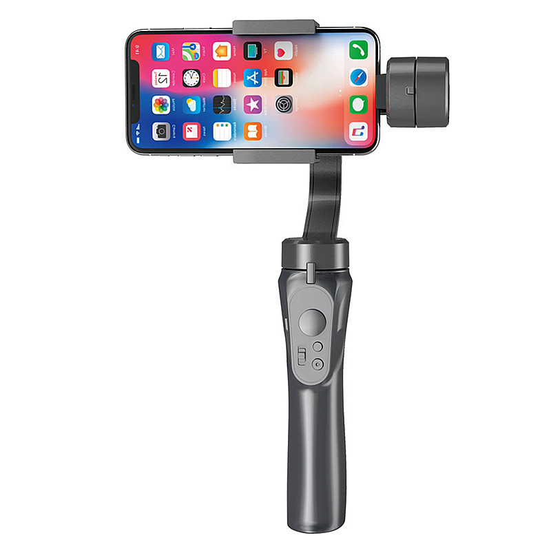 Bakeey H4 3-Axis Handheld bluetooth Gimbal Stabilizer With Clip Holder for Sports Gopro Camera Mobilephones