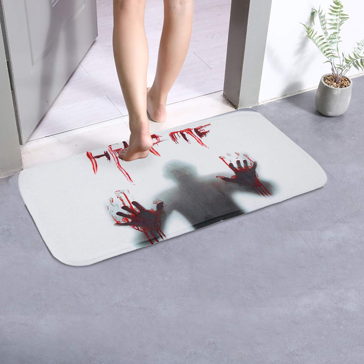 66.5*23cm Halloween Design Stair Pad Anti-Slip Carpet Kitchen Bathroom Floor Mat