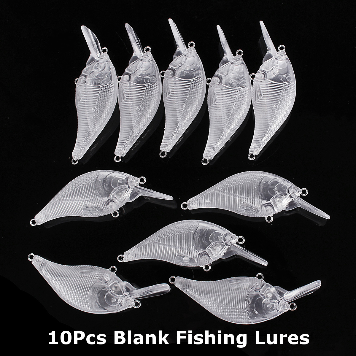 ZANLURE 10Pcs/Set 7 5CM 10 2G Unpainted Crankbait Saltwater Fishing Baits  Wobbler Blank Fishing Lure