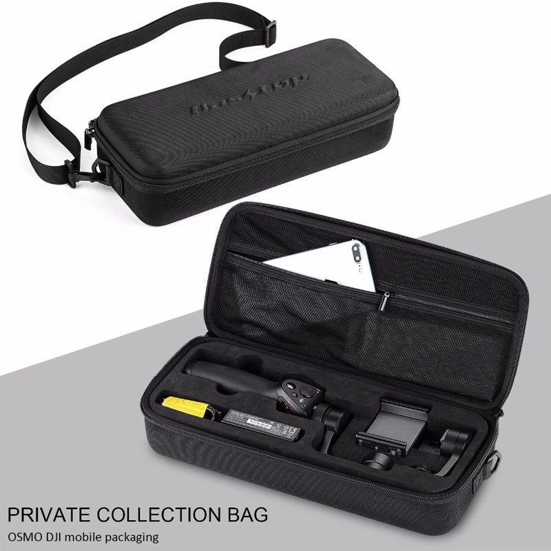 Carrying Case for DJI Osmo Mobile with Pre-cut Foam Insert Storage Bag EVA Hard Protective Carry Bag
