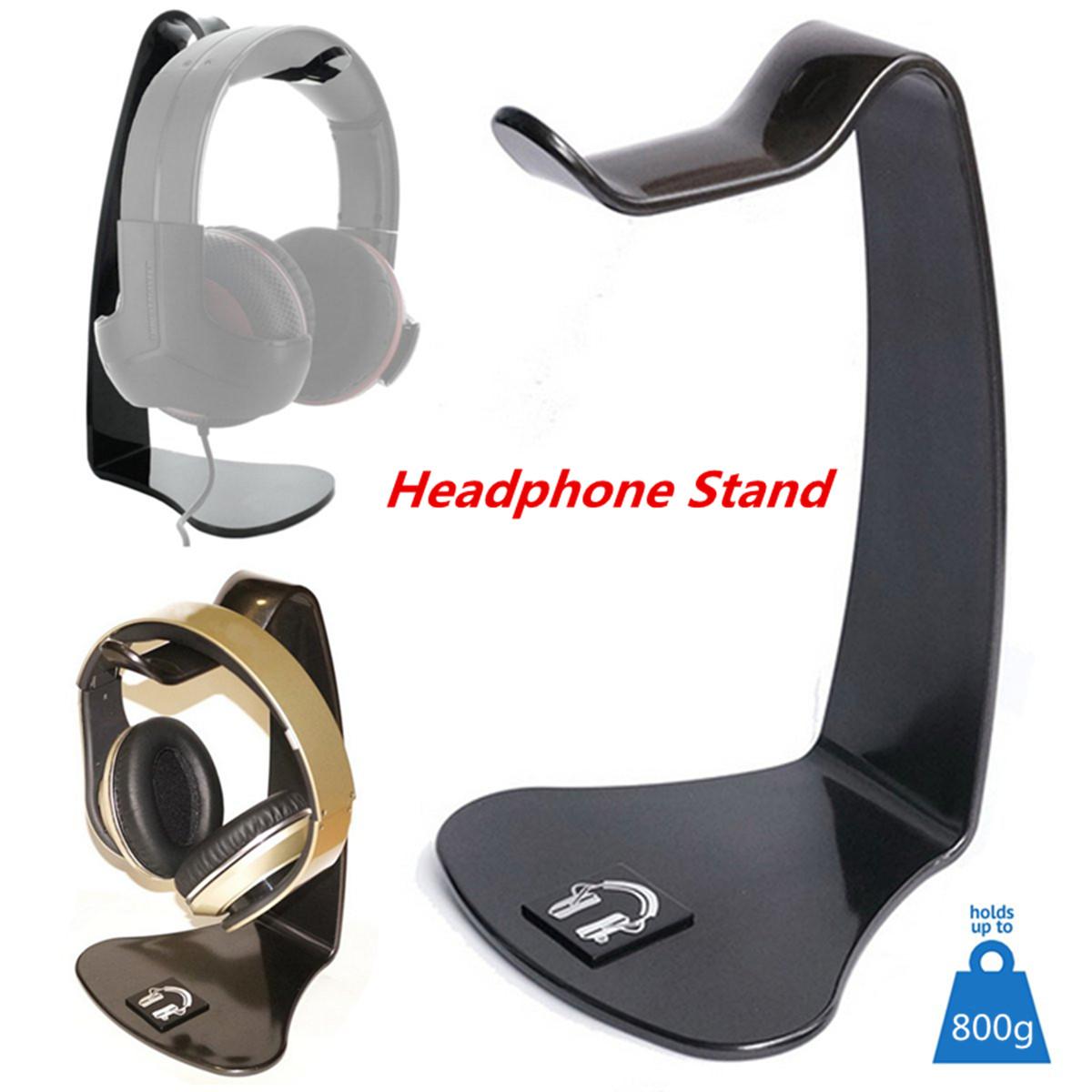 Black Desktop Headphone Stand Hanger Gaming Headset Display Rack ...