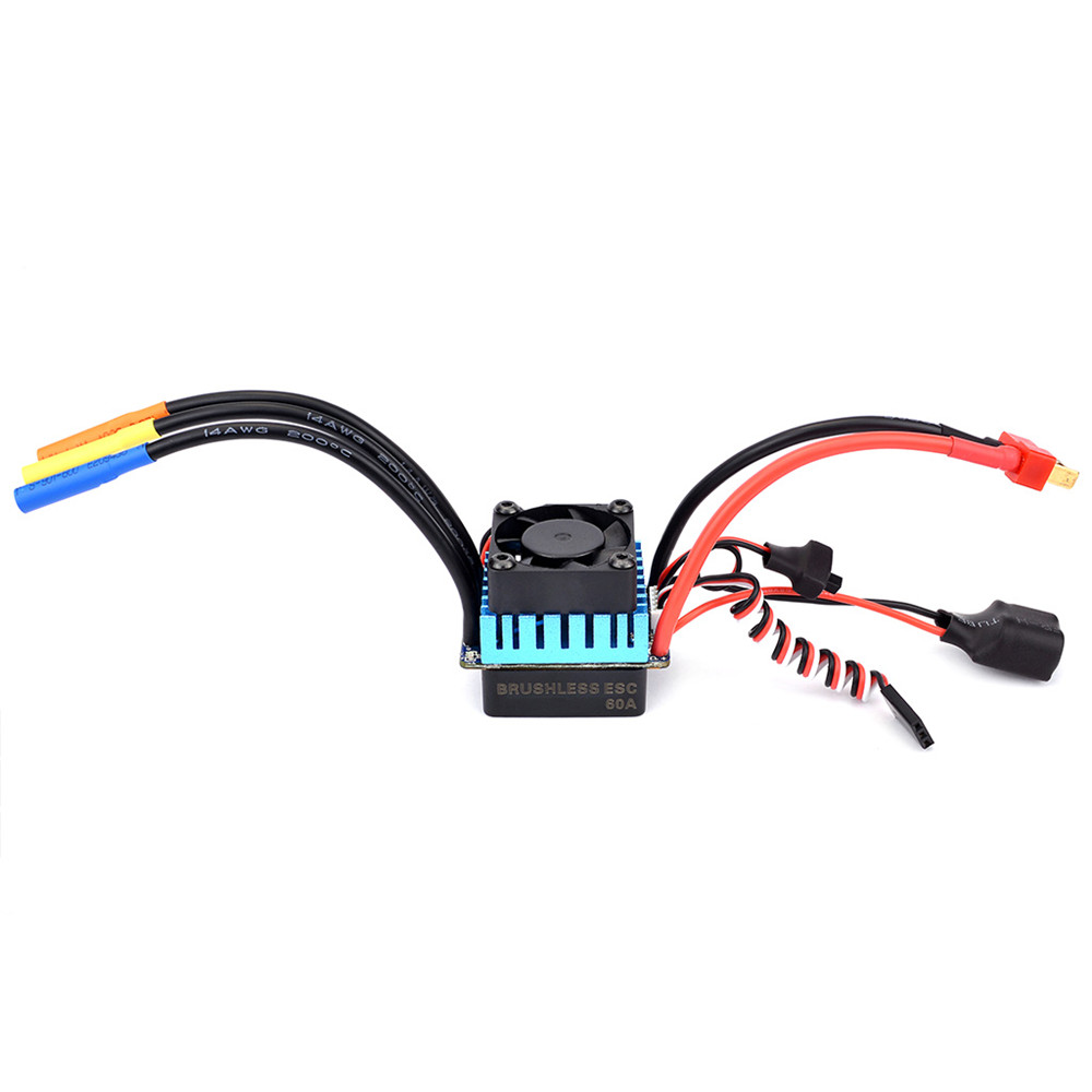Surpass Hobby 60A Brushless ESC Partly Waterproof For 1/10 RC Car Support 2s 3s Battery