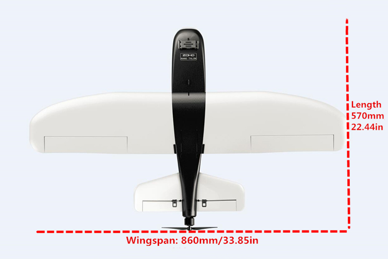 ZOHD Nano Talon 860mm Wingspan AIO HD V-Tail EPP FPV RC Airplane PNP With Gyro