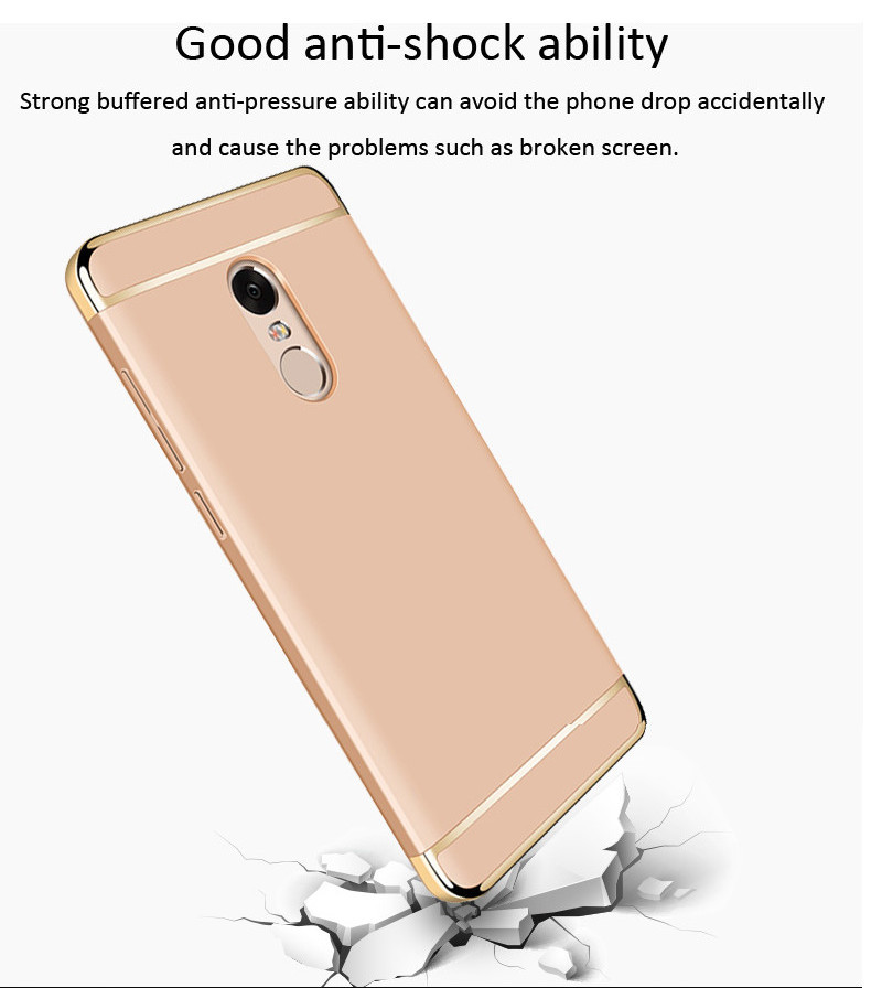 Ultra-thin Plating Frame Splicing PC Case For Xiaomi Redmi Note 4X/Redmi Note 4 Global Edition