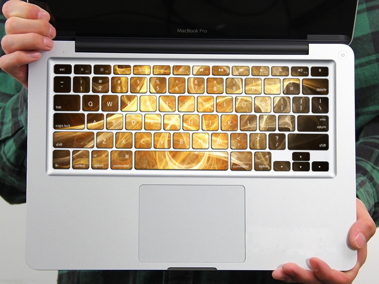 PAG Flowing Dazzling Cloud PVC Keyboard Bubble Free Self-adhesive Decal For Macbook Pro 13 15 Inch