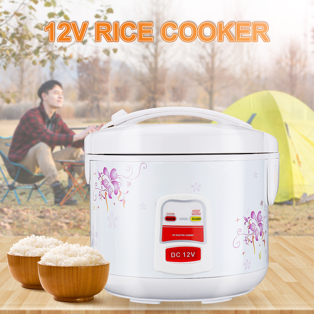 3L DC12V Electric Rice Cooker Cookware With Food Streamer Rice Cooker Stream Pot