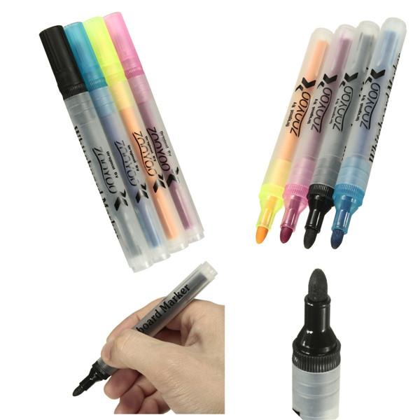 Liquid Chalk Pens White Board Marker Dry Erase Easy Wipe Erasable Bullet Tip
