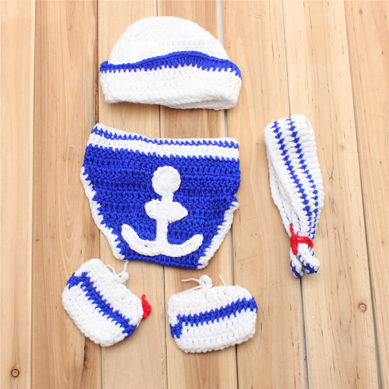 Newborn Crochet Knit Costume Photo Photography Prop Outfits Baby Girls Boys