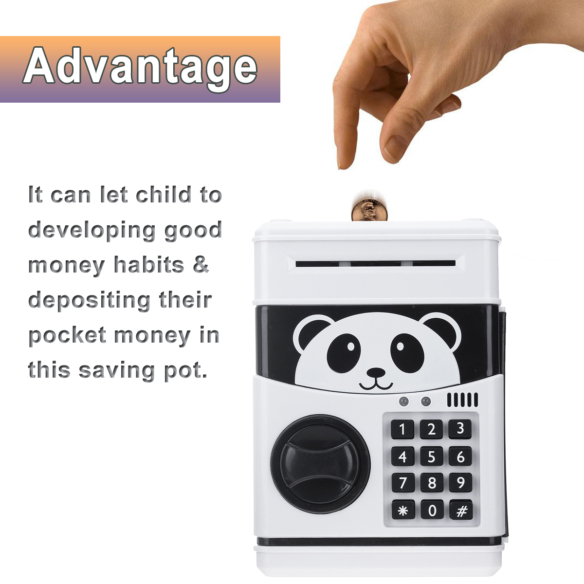 Code Lock Electronic Piggy Banks Mini ATM Coin Bank Talking Coin Box for Children Fun Kids Gift Toy