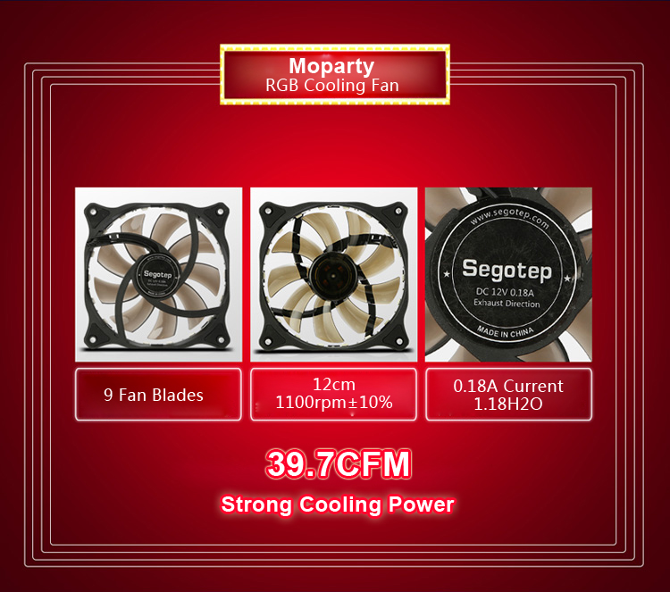 Segotep Moparty 12cm RGB LED Cooling Fan Replacement