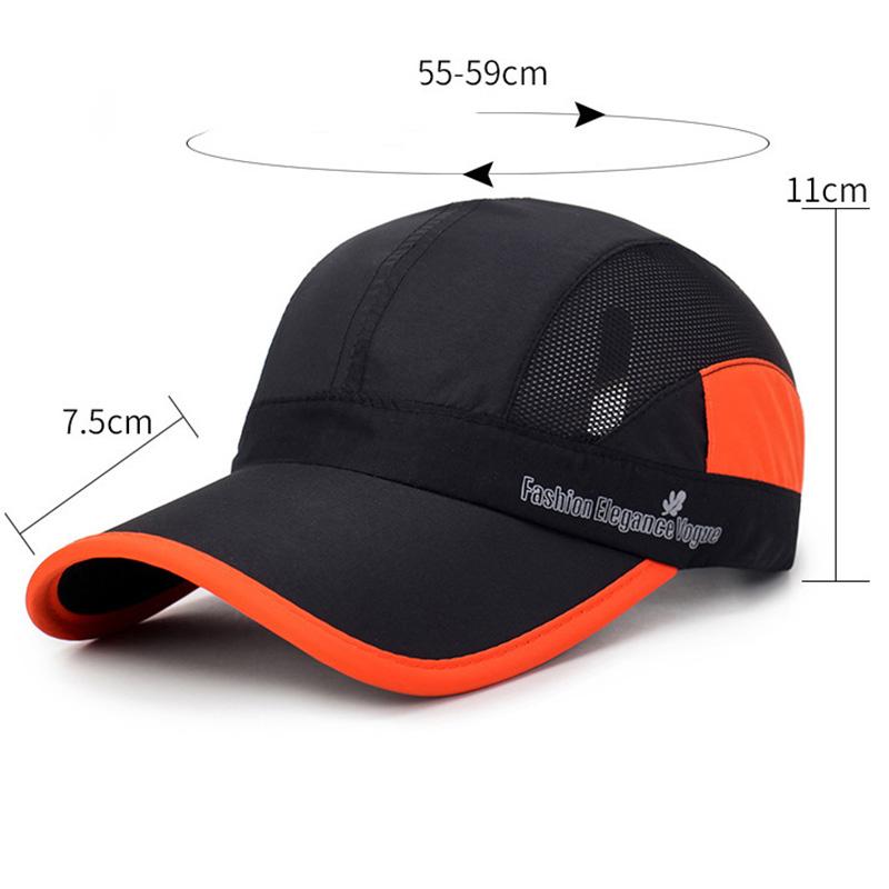 Men Women Summer Breathable Quick Dry Hat Visor
