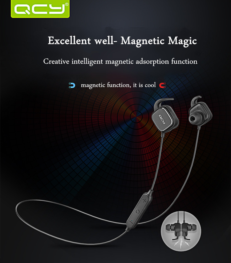 Xiaomi QCY QY12 Sport Stereo Magnetic Adsorption bluetooth 4.1 Headphone Earphone