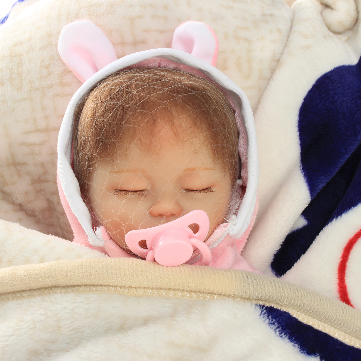 16 Inch Reborn Baby Doll Soft Body Silicone Girl Lifelike BeBe Reborn Handmade Kits Birthday Toy