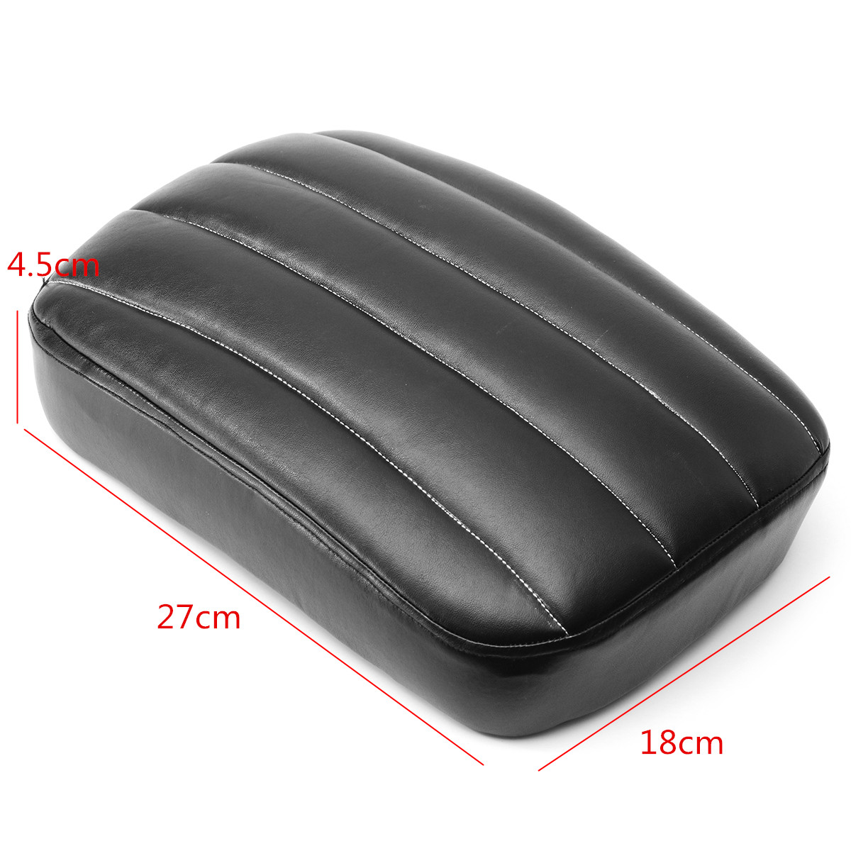 6/8 Suction Cup Rear Passenger Pillion Rectangle Pad Seat For Harley Dyna Custom