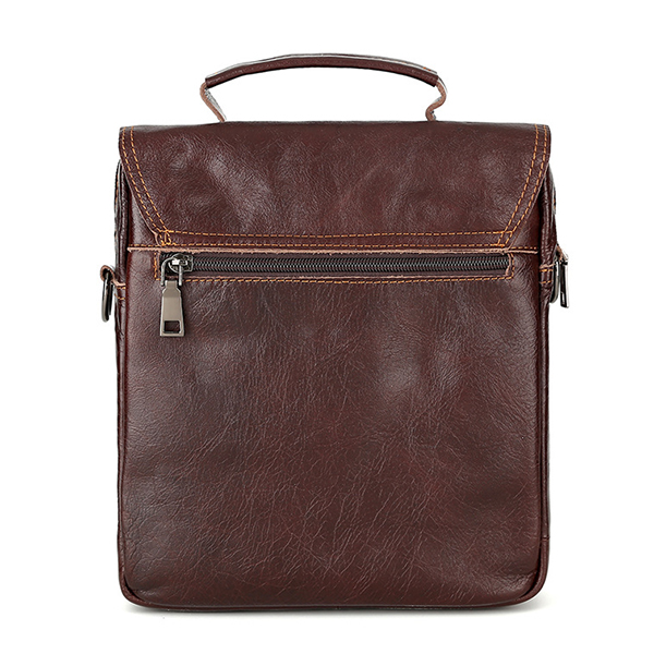Vintage Genuine Leather Business Handbag Crossbody Bag For Men