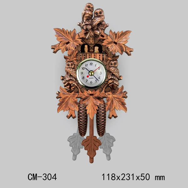 Cuckoo Wall Clock Bird Decorations For Home Cafe Restaurant Art Vintage Chic Swing Living Room