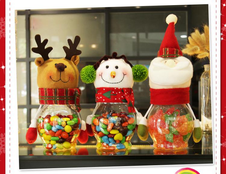 Christmas 2017 Candy Jar Santa Claus Snowman Elk Kids Christmas Gift Christmas Desktop Ornaments