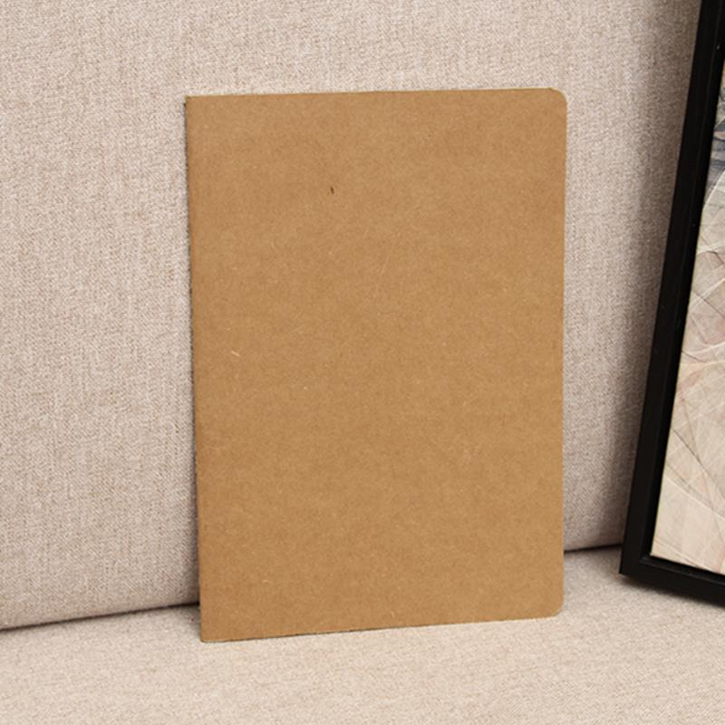 1x Cowhide Paper Notebook Blank Notepad Vintage Soft Daily Memos For Sketching Graffiti Hand-drawing