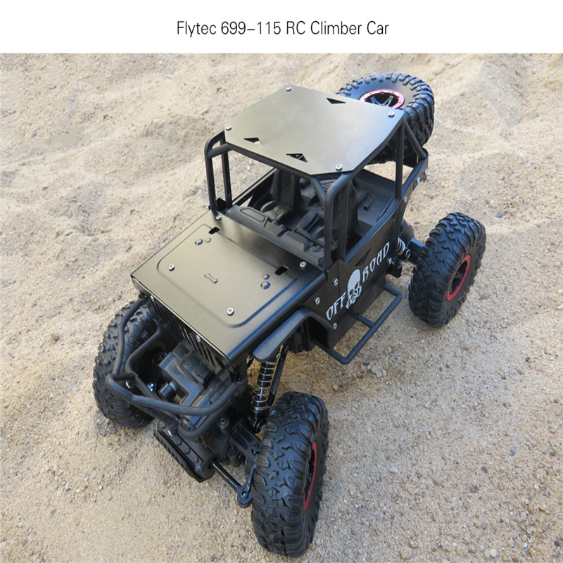 Flytec 699 1/18 2.4G Alloy Climbing Remote Control Climber with 4WD Off-road Drift RC Car Toys