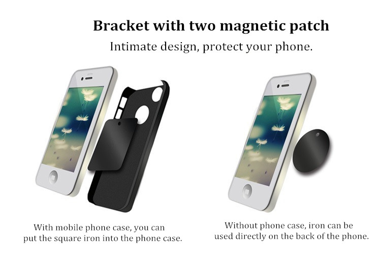 Rectangular Magnetic Strong Suction Shockproof Car Air Vent Phone Holder Outlet Mount for Phone GPS