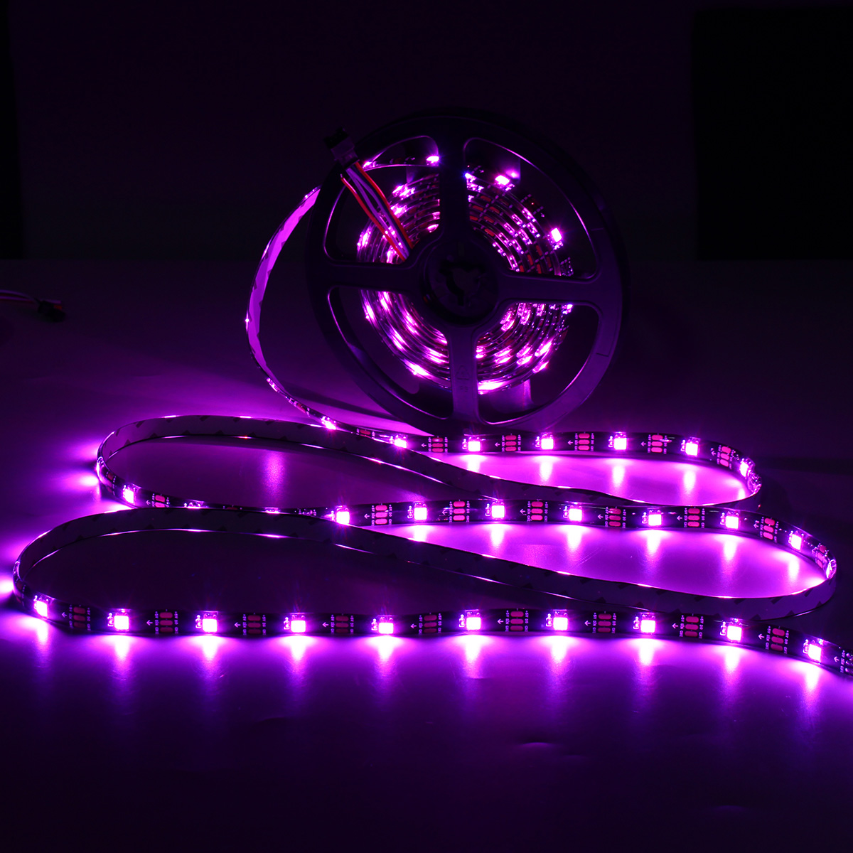 0.5M/1M/2M/3M/4M/5M DC5V USB RGB 5050 WS2812 Waterproof LED TV Back Strip Light+Remote Control Kit