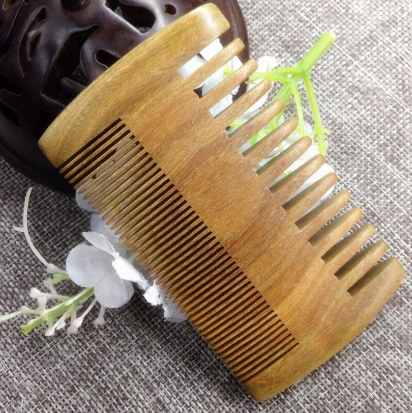 Double Sided Dense Broad Beard Smoothing Hair Mustache Comb Health Massage