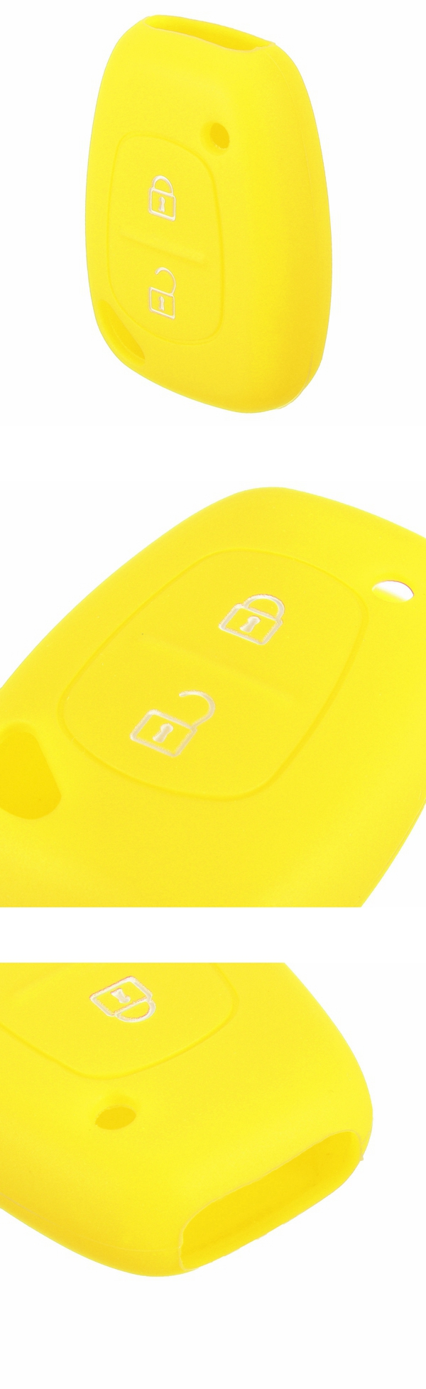 2 Button Soft Silicone Smart Key Fob Case Cover for Renault Kangoo Master Trafic