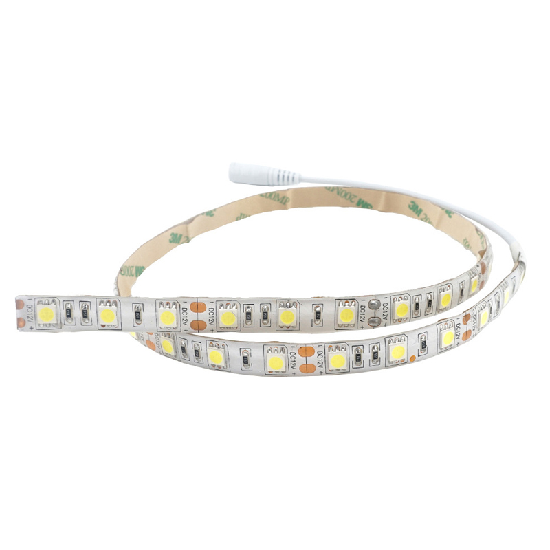50/100CM Dimmable Non-Waterproof SMD5050 LED Strip Light With DC Connector + Dimmer + Adapter DC12V