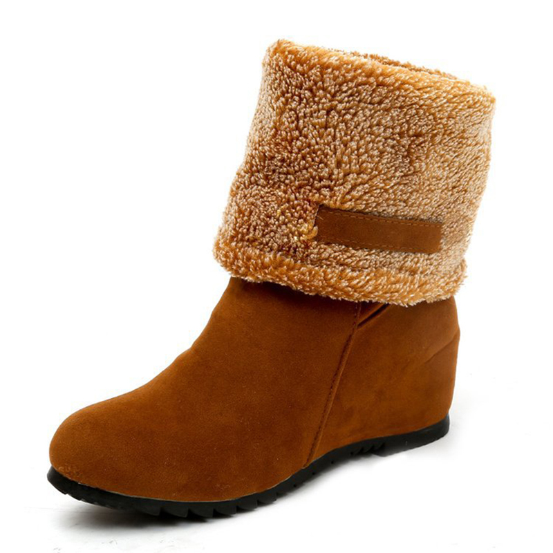 Thick Warm Fur Women Winter Warm Snow Ankle Boots