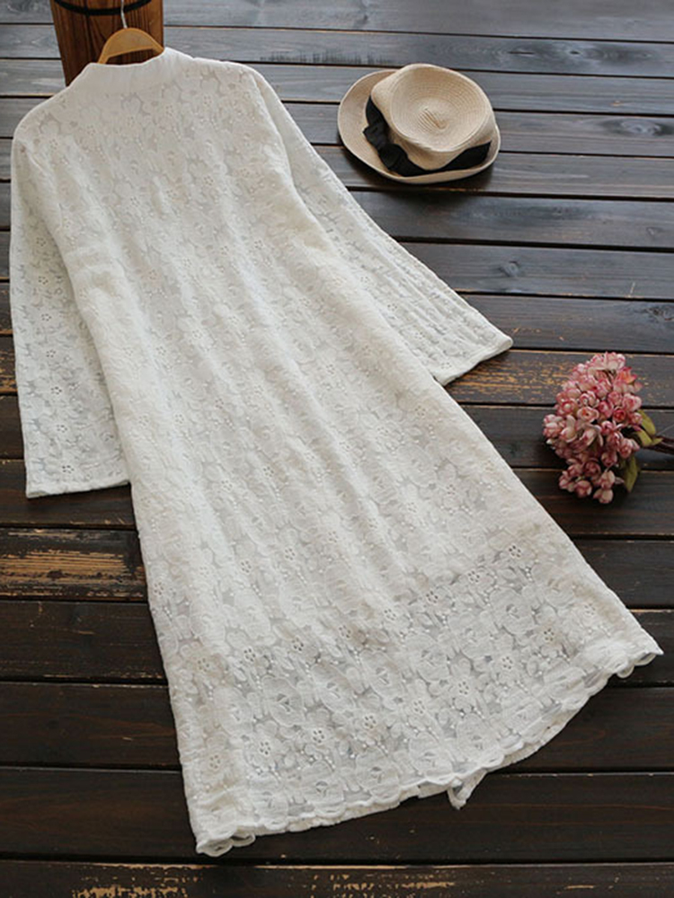 Plus Size Elegant Women Lace Mid-Long Dress