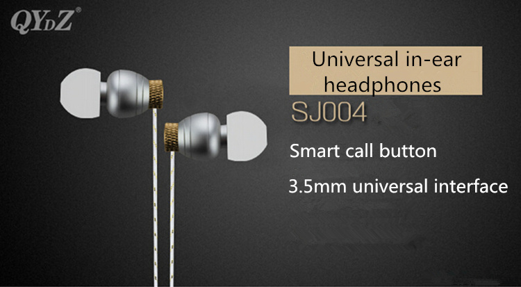 SJ004 3.5mm Universal Plug In-Ear Earphones Headphones Headset For Iphone Samsung Xiaomi