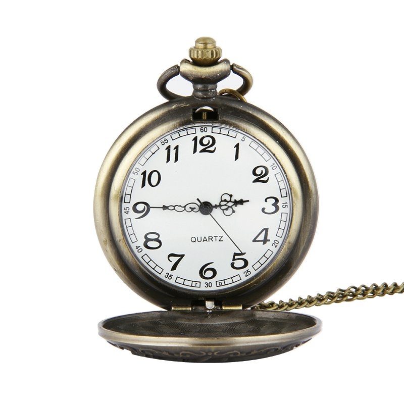 DEFFRUN Retro Bronze Classic Dragon Pattern Pocket Watch
