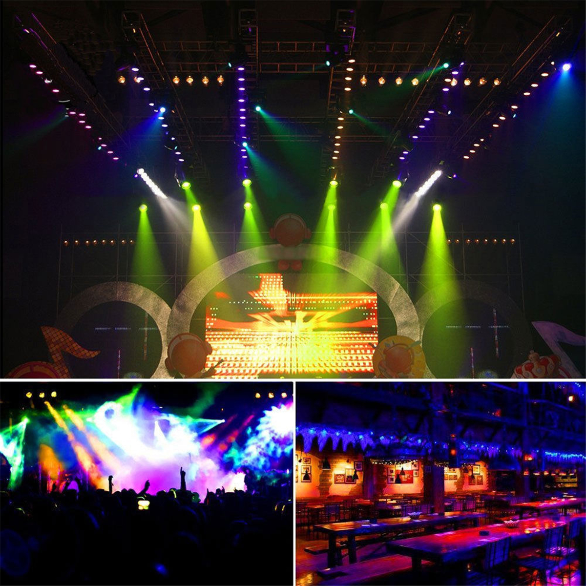 36W 36LED RGB Voice-activated DMX512 Stage Light Lamp Club For DJ Disco Party Effect AC110-220V
