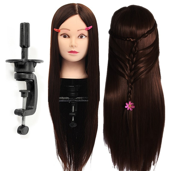 30% Real Human Hair Hairdressing Training Mannequin Dar