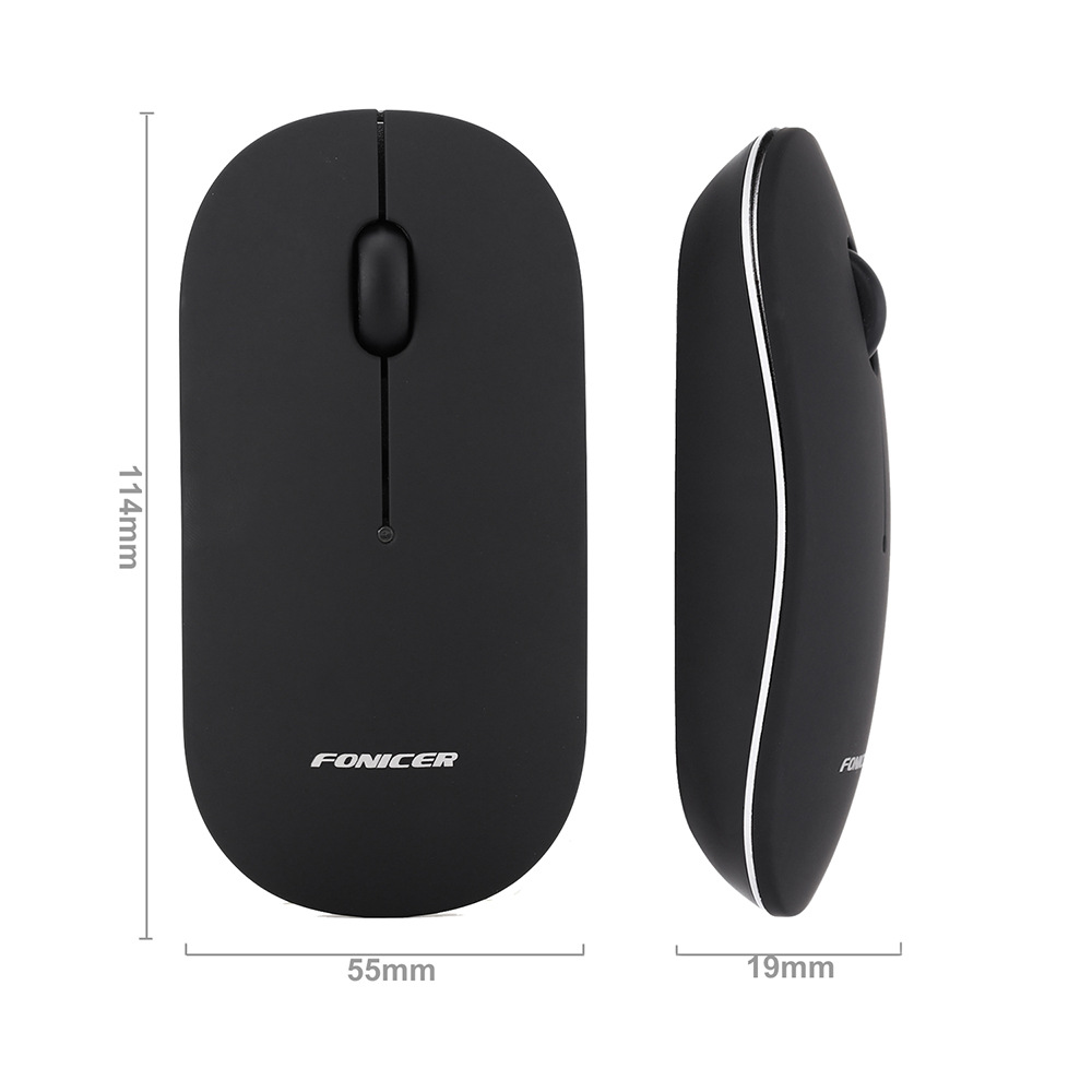 Fonicer 1200DPI 2.4G bluetooth 4.0 Dual Mode Wireless USB Optical Mouse Mice For PC Laptop Office