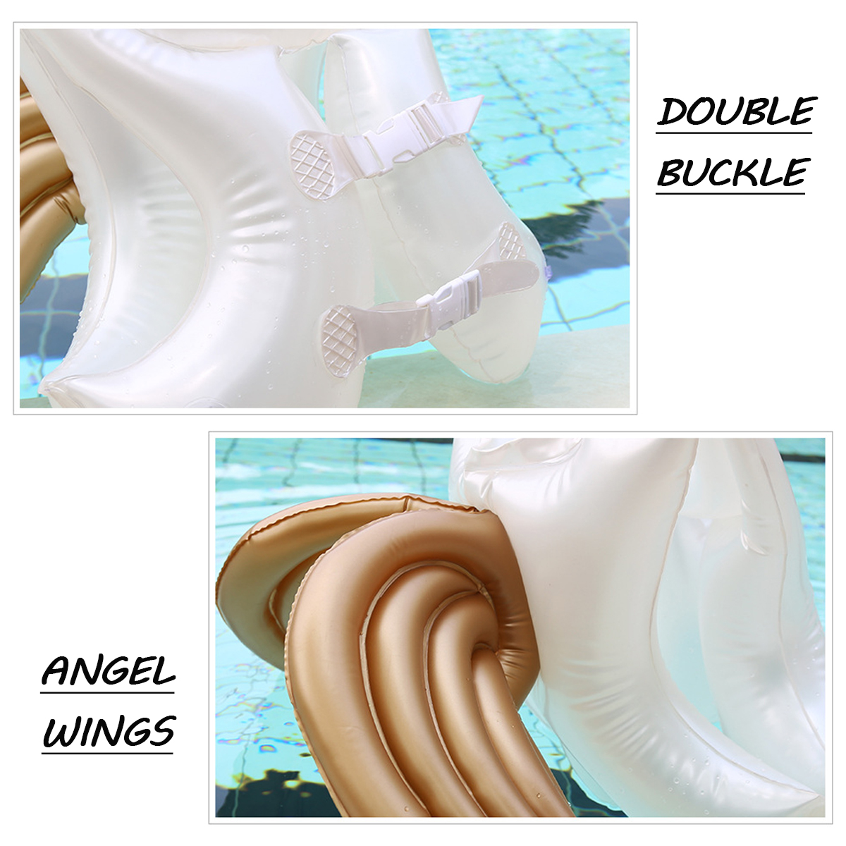 Kids Children Life Jacket Angel Wings Swimming Pool Water Float Safety Vest Swim Ring