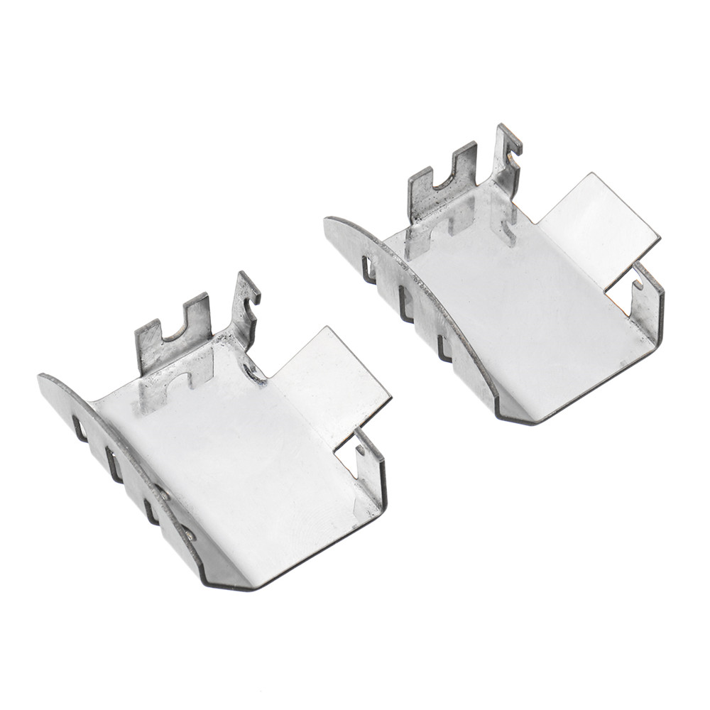 5PCS Stainless Steel Chassis Front Rear Axle Armor Protection Skid Plate for Traxxas TRX-4 RC Car