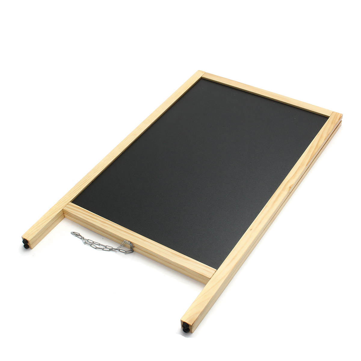 24x39 Inch Double-sided Foldable Pinewood Frame Chalkboard Wedding Shop Sign Memo Message Menu Board