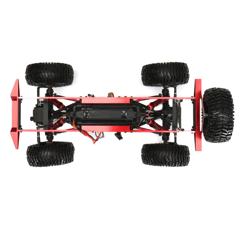 ZD 08422 1/8 2.4G 4CH 4WD Long Distance 200m Rc Car Crawler Truck Titanium Color - Photo: 6